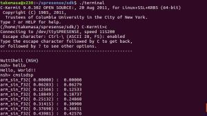 CMSIS-DSPを使ったアプリケーションの実行結果